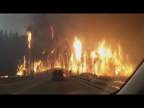 Fort McMurray. Massive wildfire. May 3 4 2016. Canada. Alberta.