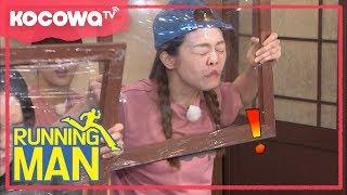 [Running Man] Ep 368_So-Min tears plastic wrap frame