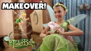 BIBBIDI BOBBIDI BOUTIQUE!!! Tinkerbell Makeover!  Meeting Princesses at Disneyland!