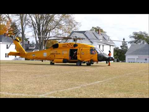USCG MH 60T Jayhawk helicopter start up and take off