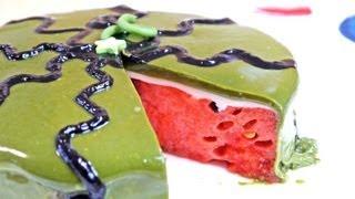 Watermelon Cake Recipe スイカケーキ 青汁 グラサージュケーキ Summer Recipes