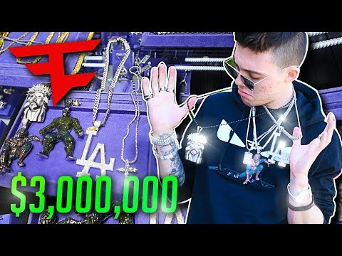 3 000 000 in JEWELRY at the FaZe House