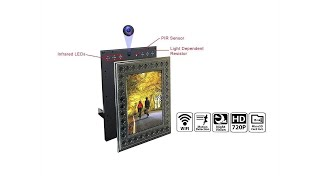 NuCam WiFi Photo Frame Hidden Spy Camera for Home / Office Security