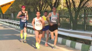 اولین ماراتن بین المللی در تهران