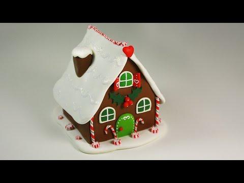 Как сделать из полимерной глины пряничный домик