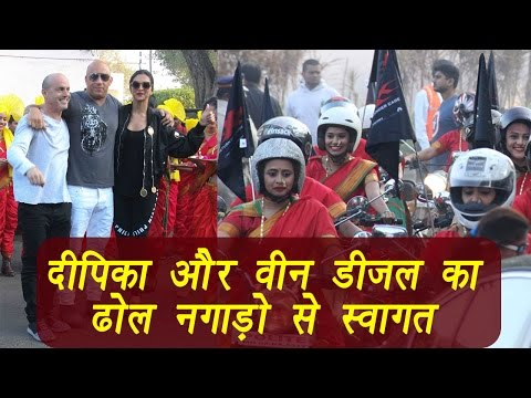 Deepika Padukone, Vin Diesel get traditional welcome at Mumbai airport; Watch Video | FilmiBeat