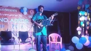 Adarsh Vasa performing Live in Farewell Bash at CET, Bhubaneswar