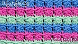 Faux Fake Broomstick Lace Without a Knitting Needle - Learn How to Crochet by Naztazia