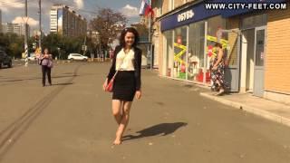 City-Feet.com - A girl in an office dress - Ksenia [1]