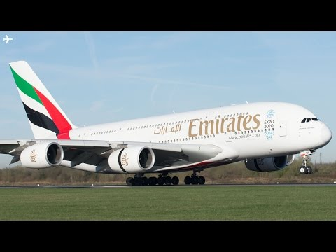 Planespotting at Manchester Airport- Close Up Morning Arrivals- Runway 05R