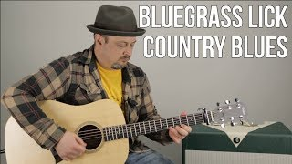 Bluegrass Guitar Licks - Country Blues Guitar Lesson