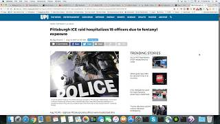 18 Police, ICE and Homeland Security Officers Hospitalized After Fentanyl Exposure