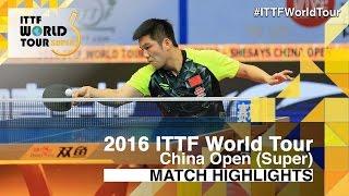 2016 China Open Highlights: Ma Long vs Fan Zhendong (Final)