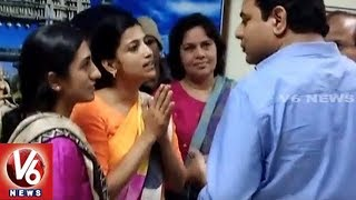 Minister KTR Fires On Collector Amrapali And Commissioner Sruthi Ohja | Warangal | V6 News