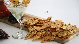 Armenian Lavash Bread Chips Recipe - Heghineh Cooking Show