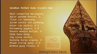 Latihan Suluk: [8] Sendhon Pathet Kedu Slendro Nem (Myat langening kalangyan)