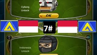 Head Soccer - How to Unlock Indonesia and Cyborg 7#