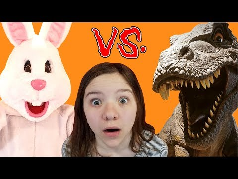 EASTER BUNNY vs T REX Who Wins