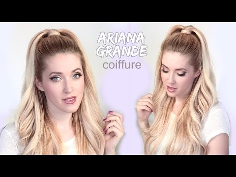 Tuto coiffure de Ariana Grande ★ Demi queue de cheval volumineuse. Duration 356 Min