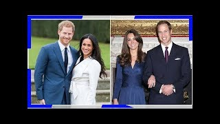 The rings! the dresses! comparing meghan markle and kate middleton
