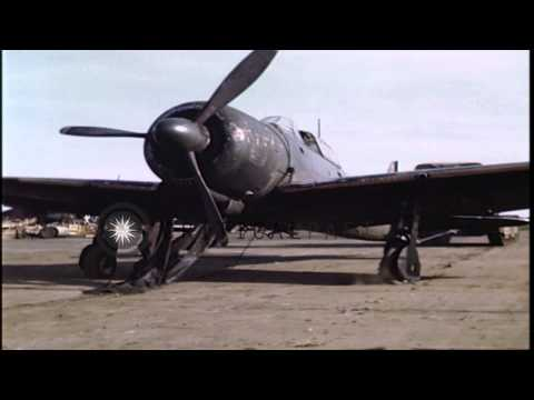 Xxx Mp4 Tractor Tows Japanese Plane At Atsugi Airdrome In Japan HD Stock Footage 3gp Sex