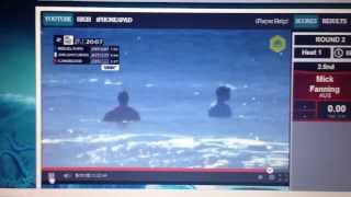 RipCurl PRO breast exposed during competition ... Who's the girl ????