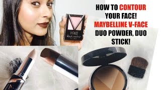 MAYBELLINE V FACE DUO POWDER, V FACE DUO STICK- CONTOUR?