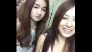 khmer funny cute girls dubsmash in bedroom