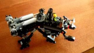 SteamPunk Lego Walker 4-legs video 2