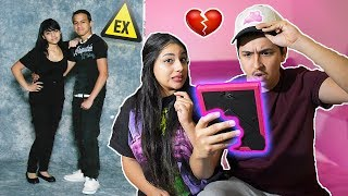 Boyfriend Reacts To Girlfriends Old Photos Of Her And Her Ex!