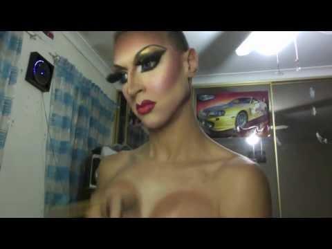 Drag Makeup Tutorial Transformation of April Fools