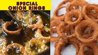 SPECIAL CRISPY ONION RINGS RECIPE IN HINDI | QUICK & EASY ONION RINGS -TEA TIME SNACKS