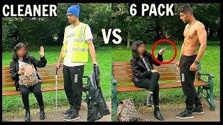 CLEANER vs 6 PACK Picking Up Girls (SOCIAL EXPERIMENT)