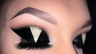 Sexy Arabic Black & Gold Cat Eye Makeup Tutorial Copied by Glam and Gore