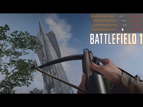 watch Battlefield 1: GRENADE CROSSBOW + NEW MAP GIANTS SHADOW GAMEPLAY (BF1 XBOW / Giant's Shadow PC)