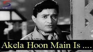 Akela Hoon Main Is Duniya Mein - Mohammed Rafi - BAAT EK RAAT KI - Dev Anand, Johnny Walker