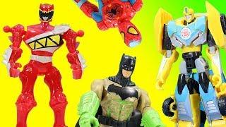 Transformers Magic Toy Surprise mix up Super Heroes Batman Power Rangers Bumblebee Optimus Prime