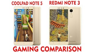 Redmi Note 3 vs Coolpad Note 5 Gaming Test