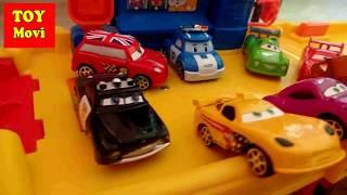 CARS Film Deutsch Robocar Poli Toys Cars 2 Kinder FILM Deutsch Fisher Price Little People Parkhaus