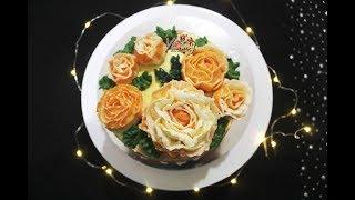 বাটারক্রিম দিয়ে গোলাপ ফুল বানানোর সহজ রেসিপি।  ROSE Flower with ButterCream। Bangladeshi Flower