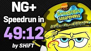 SpongeBob SquarePants: Battle for Bikini Bottom NG+ Speedrun in 49:12 (WR on 3/17/2018)