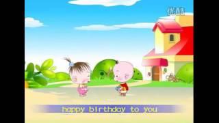 Lagu anak Happy Birthdayenglish-mandarin