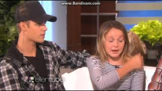 Justin Bieber on The Ellen Show surprising a fan