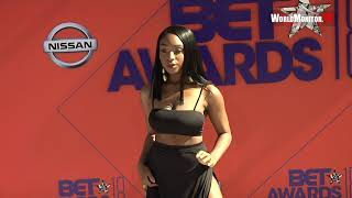 Normani arrives at 2018 BET Awards Red carpet