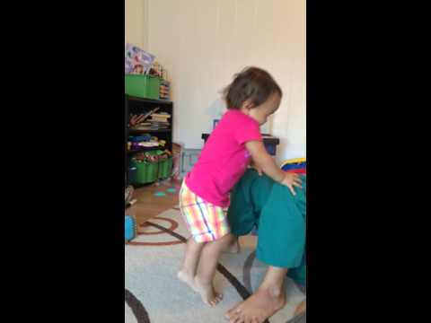 Aunty Erin plays airplane with Hina HD