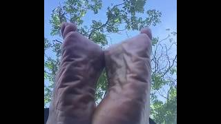 Wrinkled Soles of Mature Woman