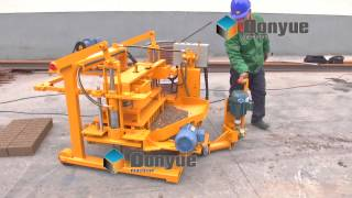 China supply Movable Brick making machine QT40-3A from 21 years factory