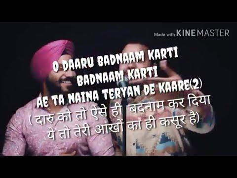 Xxx Mp4 Daru Badnam Lyrics With Hindi Version 3gp Sex