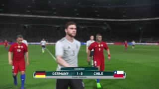 PS4 PES 2017 Gameplay Germany vs Chile HD