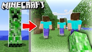 Minecraft: CREEPER FIRST PERSON!